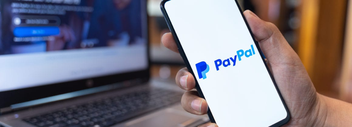 PayPal's app in a smartphone.