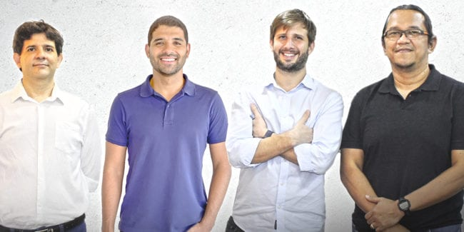 Founding partners of the Brazilian fintech UME